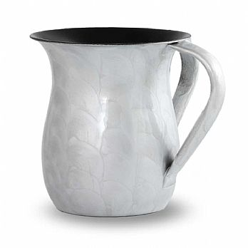 Enamel over Stainless Steel Wash Cup - Light Grey