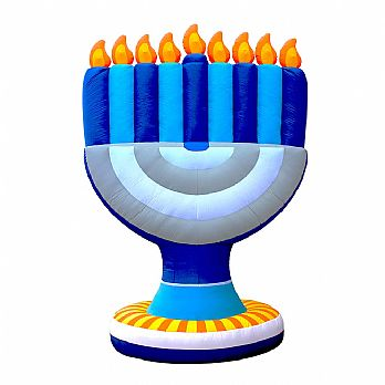 Giant Menorah Inflatable Decor - Indoor/Outdoor 11' Tall