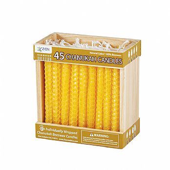 Cream White Honeycomb Beeswax Hanukkah Candles