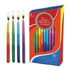 Deluxe Hanukkah Candles Tri Color Tones - Box of 45
