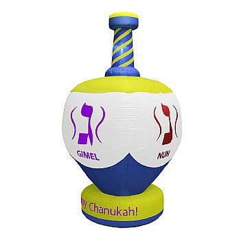 Jumbo Dreidel Indoor/Outdoor Inflatable - 8 Feet Tall
