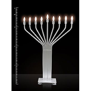Electric Menorah Infinity 44'' Large Display w/Auto Lighting & LED Bulbs - For Indoor use ONLY