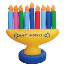 Hanukkah Decorations Blowup Menorahs Window Decorations
