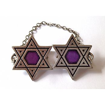Star of David Tallit Clip - Purple