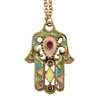 Jeweled Hamsa Necklace