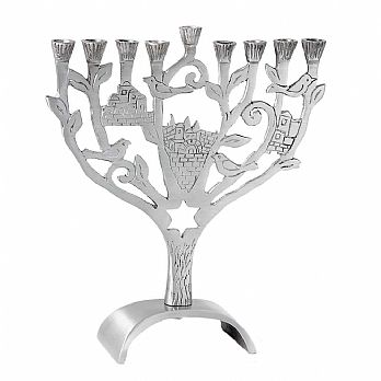 Aluminum Jerusalem Tree Menorah