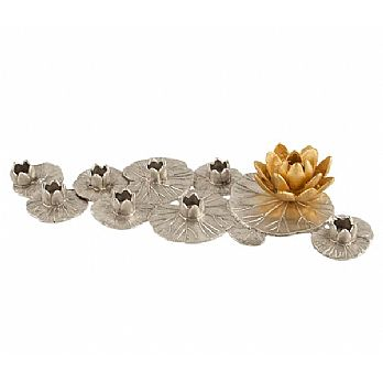 Exquisite Water Lilly Menorah by Quest