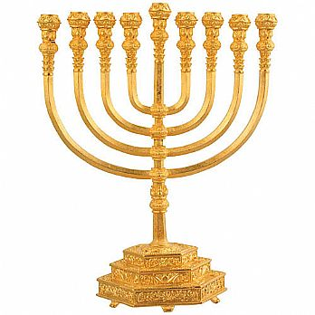 Holy Temple Menorah - Gold