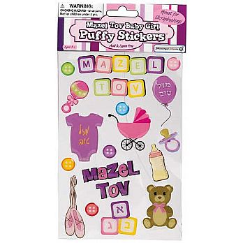 Adorable Puffy Stickers - Baby Girl