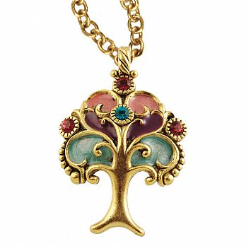 Jeweled Tree of Life Necklace