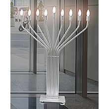 Art Glass Menorahs by Susan Fullenbaum